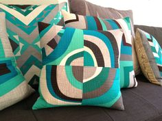 """::Going Circular:: from """"Sew Katie Did"""" blog...love everything--the circular design and colors"""