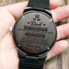 To My Daughter Mommy Loves You Love Mom Engraved Wooden Watch for Daughter Anniversary Birthday Gift Great Gifts For Dad, Perfect Gift For Dad, Love Gifts, Gifts For Father, Diy Gifts, Gift Crafts, Fathers, Gifts For Him, Husband Anniversary