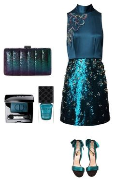 """""""Special dinner 23.04.2017"""" by valelondon on Polyvore featuring moda, Matthew Williamson, Christian Louboutin, Jessica McClintock, Christian Dior e Gucci"""