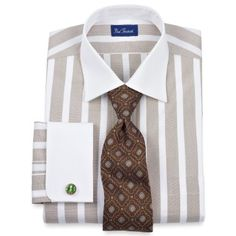 Amazon.com: Paul Fredrick End-on-End White Collar and French Cuffs Dress Shirt: Clothing