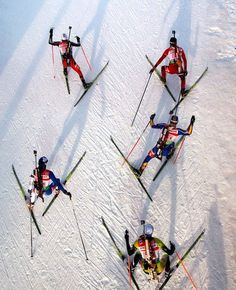 BBC (in pictures): Alexander Hassenstein found a great angle to capture the competitors in the 2011 IBU Biathlon World Championship in Khanty-Mansiysk, Russia.