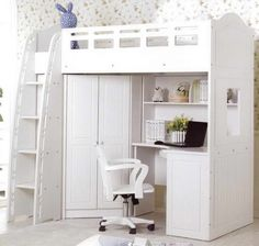 So Extraordinary Full Pink Loft Bed With Desk Closet And Stairs For Girls - Google Search