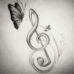 Draw this for the orchestra teachers Music Drawings, Pencil Art Drawings, Art Drawings Sketches, Love Drawings, Easy Drawings, Tattoo Drawings, Pencil Sketching, Doodle Drawings, Music Tattoos