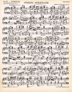Spring Printable Antique Sheet Music via KnickofTime.net