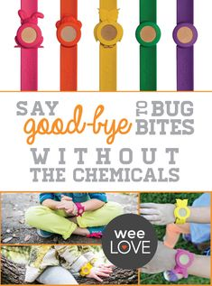 Safe and cute! An insect repellent bracelet that's safe for everyone.