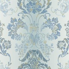 kashgar - zinc wallpaper | Designers Guild