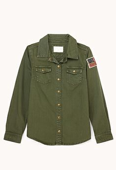Girl-In-Charge Military Shirt (Kids) | FOREVER21 girls - $22.80