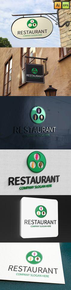 """@Behance projeme göz atın: """"Restaurant Logo""""…"""