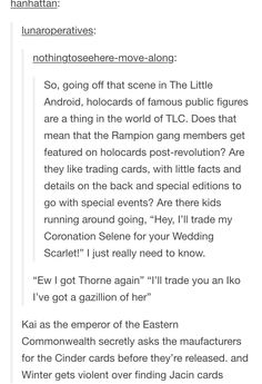 OMG THIS IS LIKE THE CHOCOLATE FROG CARDS IN HARRY POTTER I LOVE THIS TEXTPOST SO MUCH!!!!