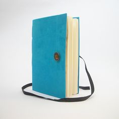 Writing Notebook Journal with lined paper - Large journal A5 size - Blue fabric - boat button- Personal fabric diary - blank book for men. $53,00, via Etsy.