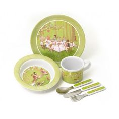 Melamine eating set   Belle & Boo (available in New Zealand from The Homestore)