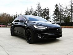 Tesla Model X. Black SUV.
