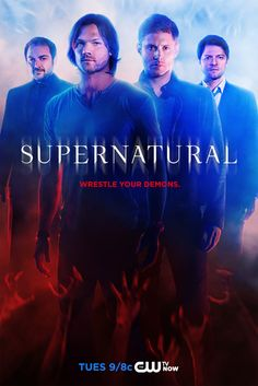 The CW's released a new poster for the season of Supernatural starring Jensen Ackles as Dean, Jared Padalecki as Sam, Misha Collins as Castiel, and Mark Sheppard as Crowley. Supernatural Series, Supernatural Poster, Supernatural Season 9, Supernatural Beings, Castiel, Supernatural Wallpaper, Netflix Supernatural, Supernatural Dean, Winchester Brothers