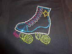 Roller Skate Rhinestone Shirt. $25.00, via Etsy.