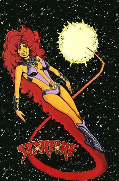 "barbaragordan: "" Starfire in The New Teen Titans Vol. 2 """