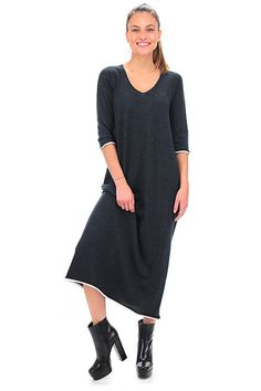 Twin Set Jeans - Abiti - Abbigliamento - Abito lungo in lana con manica a 3/4…