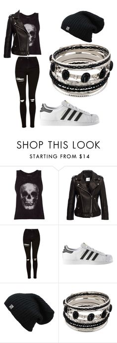 """Untitled #108"" by misszoe101 ❤ liked on Polyvore featuring ElevenParis, Anine Bing, Topshop and adidas"