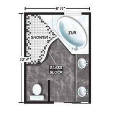 SHOWER-I like the shape of the shower.