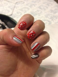 My buckeye nails for my baby shower!