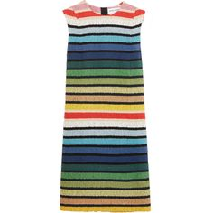 Sonia Rykiel Striped cotton-blend terry mini dress ($1,400) ❤ liked on Polyvore featuring dresses, sonia rykiel, stripes, short dresses, short yellow dress, stripe dress, blue yellow dress and short blue dresses