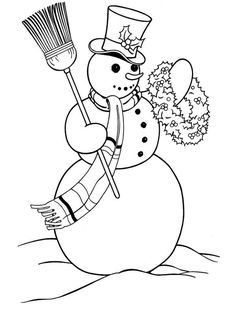 Printable snowman coloring pages Christmas Wreath, coloring sheets and pictures. Snowman Coloring Pages, Christmas Coloring Sheets, Printable Christmas Coloring Pages, Free Christmas Printables, Coloring Book Pages, Printable Coloring, Christmas Pictures To Color, Christmas Colors, Christmas Snowman