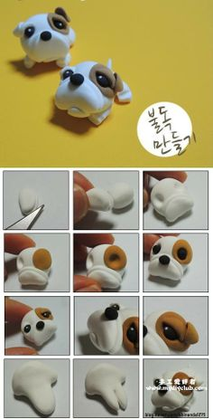 dog clay tutorial