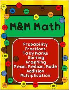 Use M&M's to teach math concepts.  This is a reusable activity, perfect for Friday afternoons!  Keep students engaged week after week!