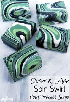 & Aloe Spin Swirl Cold Process on Soap Queen TV Learn how to create gorgeous Clover and Aloe Spin Swirl Soap in this video tutorial. The spin swirl involves spinning the mold to create a unique swirl each time.For each For each may refer to: Diy Cosmetic, Diy Masque, Savon Soap, Tv Soap, Homemade Soap Recipes, Soap Packaging, Handmade Soaps, Diy Soaps, Cold Process Soap