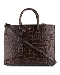2dc4309f67167 Get one of the hottest styles of the season! The Saint Laurent Sac de Jour  Small Croc-embossed Brown Leather Tote is a top 10 member favorite on  Tradesy.