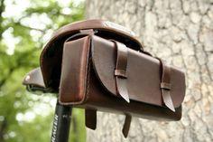 Leather Bike Tool Bag - Jespen Leather Goods