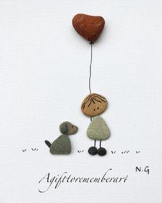 """Cute Valentine"" a little cute frame for Valentine's Day. #agifttorememberart #pebbleart #neshatghaffari #instaart #instaphoto #art #handmade #valentinesday #gift #australia #adelaide #nature Etsy #makersgonnamake #artist #madebyme #love #valentinegift #frame #roomdecor #instagood #photooftheday #stones #dog #cute #etsyseller"