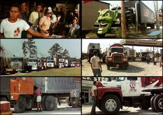 Maximum Overdrive Movie Cars, Movie Tv, Maximum Overdrive, What U Want, Famous Monsters, Old Movies, Mad Men, Werewolf, Rigs