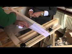 Dressing the frame for tambour beading and embroidery - YouTube