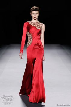 red wedding dresses | ... Above, stunning red gown; below, one-shoulder gown with draped bodice