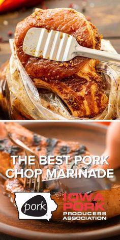 Easy Pork Chop Recipes, Grilling Recipes, Meat Recipes, Mexican Food Recipes, Dinner Recipes, Cooking Recipes, Best Grill Recipes, Best Pork Chop Recipe, Best Pork Chop Marinade