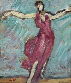 Danseuse en Garance by Louis Valtat (1869-1952), French artist associated with the Fauves (mutual art)