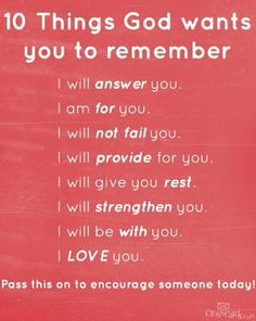 Do not forget it