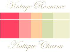 vintage-wedding-style-coral-peach-wedding-color-palette