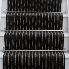 Best Details About Black Red Grey Stripe Stair Carpet Runner 640 x 480
