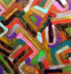 Abstraction vintage N°4 et N°5 - Huile & Acrylique sur toile - Jeanne…
