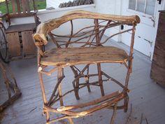 Garden chair stick furniture