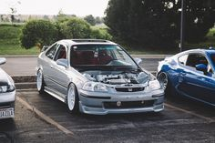 K-Swapped Honda Civic Coupe Ej6 (EK) with full Mugen kit and Recaro interior in Wisconsin by Redwood Photography