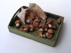Cep mushrooms - Miniature in 1:12 by Erzsébet Bodzás, IGMA Artisan