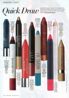 BITE's High Pigment Pencil in Corvina featured in the most recent issue of Latina!