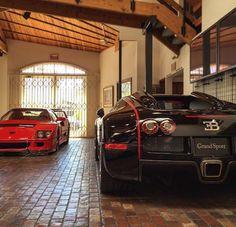 Ferrari F40 x Bugatti Veyron