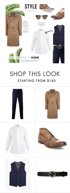 """""""Sea breeze."""" by zeljkaa ❤ liked on Polyvore featuring Prada, Maison Margiela, Dolce&Gabbana, Steve Madden, Brooks Brothers, Gucci, Tom Ford, men's fashion and menswear"""