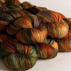 Copper Penny Silk Merino lace