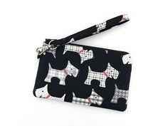 Scottish+Terrier+Wristlet+Purse+Cell+Phone+Wristlet+Zipper