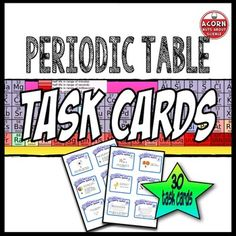 Periodic table task cards with editable template early periodic table task cards with editable template early finishers periodic table and template urtaz Images