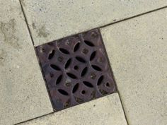 Really nice decorative drain tile - #Arizona style